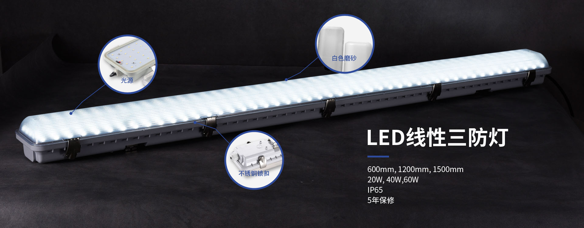 LED linear tri-proof